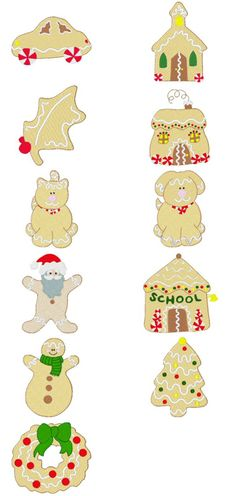 Free Embroidery Designs: Gingerbread Village - I Sew Free