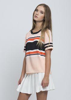 Rugby Silk Stripe T-Shirt