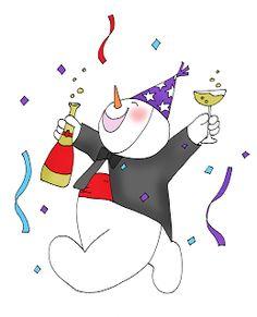 Happy New Year Snowman Free Dearie Dolls Digi Stamps