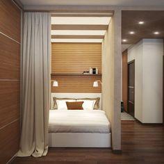 спальня в дизайне квартиры-студии