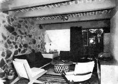 Vista interior de una unidad, Edificio de apartamentos de la eficiencia , (dirección desconocida), Tlaquepaque, Jalisco, México 1956 Arq. Max Henonin Interior view of a unit, Efficiency apartment building, (address unknown), Tlaquepaque, Jalisco,...