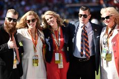 . The Bowlen family poses for pictures before the start of the game. The Denver Broncos played the Carolina Panthers in Super Bowl 50 at Levi\'s Stadium in Santa Clara, Calif. on February 7, 2016. (Photo by Joe Amon/The Denver Post)
