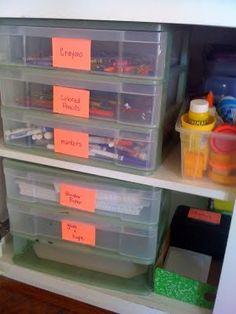 Back To School Organization - under cabinet system for homework supplies