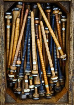 .love collecting old wood spools and bobbins, once such a utilitarian use, now can wind my lovely luxury yarns around to admire. So much history of women's suffrage tied with their going to work in the textile mills and then slowing wanting more...