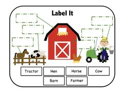 Preschool Printables: Down on the Farm Printable