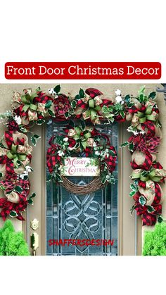 Excited to share this item from my shop: Farmhouse Christmas Door Decor, Rustic Christmas Garland and Wreath, Buffalo Plaid Grapevine Christmas Wreath and Garland Grapevine Christmas, Front Door Christmas Decorations, Merry Christmas Sign, Christmas Greenery, Farmhouse Christmas Decor, Rustic Christmas, Christmas Diy, Pinterest Christmas Crafts, Homemade Christmas Wreaths