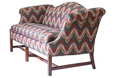 Flame Stitch Tapestry Sofa