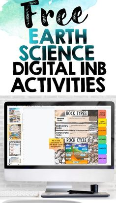 Earth Science Digital Interactive Notebook Activities Freebie Sampler -This resource contains printables from Earth Science Interactive Notebooks Try these interactive notebook resources with your students for FREE! This product contains printables from Rock Cycle, Plate Tectonics, Ecosystems, Biomes, Energy, Weather Science Lesson Plans, Science Fun, Science Resources, Science Ideas, Science Lessons, Earth Science, Learning Resources, Life Science, Teacher Resources