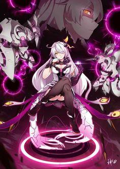 Kiana [Herrscher of the Void] Manga Anime Girl, Girls Anime, Kawaii Anime Girl, Manga Art, Anime Warrior, Anime Demon, Fantasy Character Design, Character Art, Manga Combat