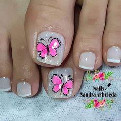 Nail Art Designs Videos, Toe Nail Designs, Acrylic Nails Coffin Short, Coffin Nails, Spring Nail Art, Spring Nails, Pretty Pedicures, Gorgeous Nails, Trendy Nails