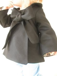 Girls Cute Bow Coat.