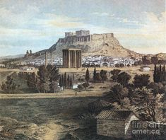 Acropolis, Monuments, Athens, Monument Valley, Mythology, Paintings, Oil, Retro, Travel