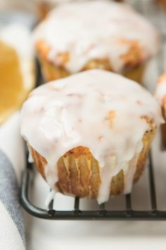 Lemon poppy seed muffins are great for breakfast or brunch! The lemon really brightens the flavor and the glaze adds just the right amount of sweet. Enjoy!