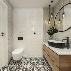 Bathroom Design Luxury, Bathroom Design Small, Modern Bathroom, Home Interior Design, Fitted Bathroom, Laundry In Bathroom, Bad Inspiration, Bathroom Inspiration, Bad Styling