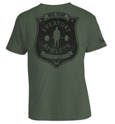 WOD Gear Clothing - Every Day Athlete - Mens Workout Shirt, $25.00 (http://www.wodgearclothing.com/every-day-athlete-mens-workout-shirt/)