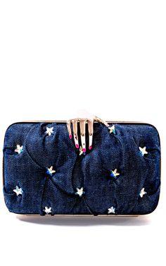 Benedetta Bruzziches Carmen With Hand Stars Clutch by Benedetta Bruzziches for Preorder on Moda Operandi