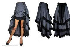 Rock Steampunk Pin Up Skirt Gothic Lolita Vintage Burlesque Victorian Vintage gr