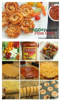 Veggie Packed Pizza Roll Recipe - Pack the veggies INSIDE your pizza! http://www.superhealthykids.com/veggie-packed-pizza-rolls/