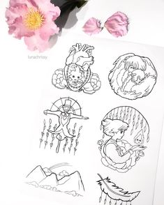 Another sheet of designs for a magical movie Howl's Moving Castle! I absolutely adore every bit of this movie. Who else loves it too? by lunachrissy