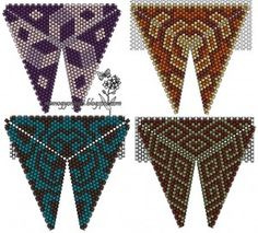 scheme triangular pendants