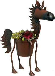 Saddles Tack Horse Supplies - ChickSaddlery.com Fireball Metal Horse Planter - Large