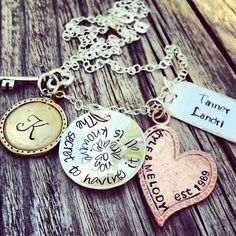 Personalized Handstamped Mixed Metals by DreamNColorDesigns