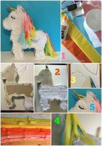Cómo hacer una piñata de Unicornio 2