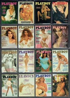 PLAYBOY PLAYMATE OF THE YEAR COVERS CARD COLLAGE ALL TIME PLAYMATE GR8'S MNT    #PLAYBOY