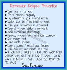 to avoid depression