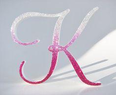 Monogram Cake Topper   Pink Ombre Wedding Inspiration (topper: studio bloom iowa)