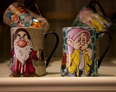 Disney Grumpy & Dopey Morning Mugs Disney Coffee Mugs, My Coffee, Coffee Cups, Disney Tassen, Disneyland, Coffee Mug Display, Disney Furniture, Disney Cups, Cute Cups