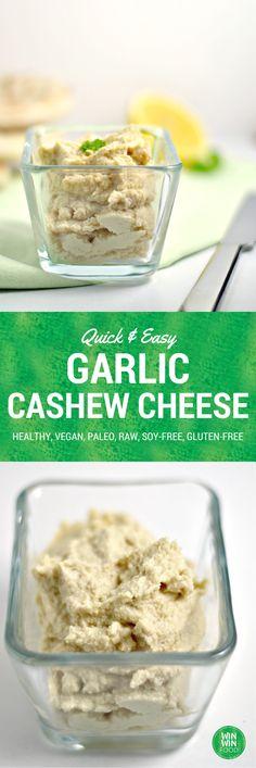 Garlic Cashew Cheese | WIN-WINFOOD.com Make your own #vegan cheese in 6 simple steps! #glutenfree #paleo #raw