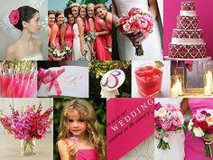 Hochzeitskarten - Pocket-Fold Einladungskarte - Pink Temptation - ein Designerstück von printsonalities bei DaWanda