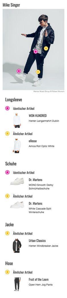 Der Monochrome-Style ist 2017 mega angesagt und dient als Inspiration unzähliger neuer Modelinien. Auch Stars und Sternchen von aller Welt präsentieren sich in diesem lässigen Look. Sänger Mike Singer ist hier natürlich keine Ausnahme. Für das Fotoshooting für sein neues Album DEJA VU hat er sich ein Outfit in Schwarz-Weiß ausgesucht und setzt damit auf starke Kontraste. Besonders stylisch: Sein weißes Longsleeve Shirt von WON HUNDRED, das er zu seiner schwarzen Sweatpant kombiniert.