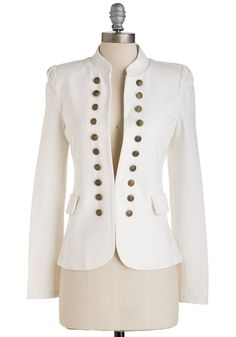 I Glam Hardly Believe It Blazer in White. Need a pinch? #white #modcloth