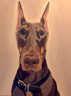 Pet Painting, Custom Dog Portrait, Dog Painting, Hand Painted in Acrylics, From Photograph, Pet Lover Gift, Memorial Pet Portrait by PetPortraitsbyHolly on Etsy