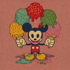 Ice Cream Mickey By Dave Quiggle