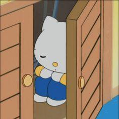 Hello Kitty Cartoon, Hello Kitty My Melody, Sanrio Hello Kitty, Gifs, Vintage Cartoon, Cute Cartoon, Sanrio Characters, Cute Anime Pics, Cute Memes