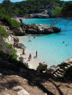 Menorca, Spain, the smaller Island of Majorca. Places Around The World, Oh The Places You'll Go, Places To Travel, Places To Visit, Menorca, Vacation Destinations, Dream Vacations, Vacation Spots, Holiday Destinations