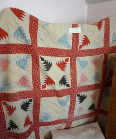 Beautiful antique quilt @ the Jesse Smith house in Snowflake, AZ | via diaryofaquilter.com