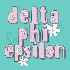 Delta Phi Epsilon   DPhiE   Flower Power Design   Throwback   South by Sea   Greek T-Shirts   Custom Greek Apparel   Sorority T-Shirts