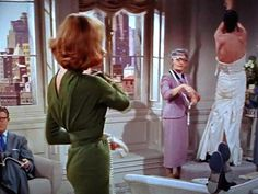 Designing Woman, Lauren Bacall's dress is business in the front and party in the back ...