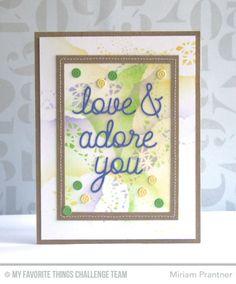 Love & Adore You Die-namics, Sequins Die-namics - Miriam Prantner  #mftstamps