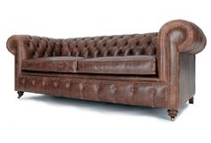 Historian Vintage Leather 3 Seater Chesterfield Sofa Bed From Old Boot