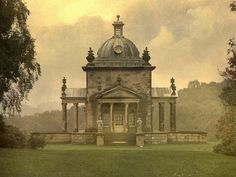 """Castle Howard, the home of the Howard family for over 300 years, may be best known as the filming location for the series Brideshead Revisited. This is a small """"temple"""" at the far end of the extensive grounds. The building was used for entertaining, including a wedding. A very romantic place with marvelous views of the English countryside"""