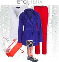 """April Showers from Etcetera"" by blalockboutique on Polyvore"