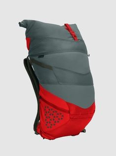 """""""Bolinas"""" backpack in grey and red is ideal for outdoor camping and mobile lifestyle in general 