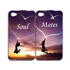 Soul Mates Pretty iPhone Case Cute Best Friend Phone Cover iPhone 4 4s 5 5c 5s 6