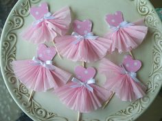Ballerina cupcake toppers by Jeanknee, via Flickr