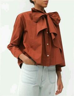 Caron Callahan Pablo Shirt-Rust Creatures of Comfort Looks Style, Style Me, Pablo Shirt, Mode Top, Inspiration Mode, Autumn Fashion, Women Wear, Fashion Design, Fashion Trends